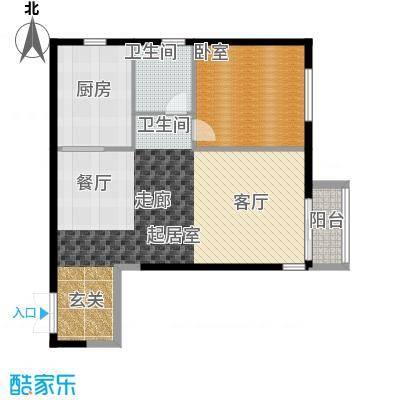 北京华侨城86.62㎡B户型10室