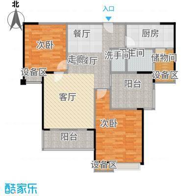 绵阳涪城万达广场户型2室1厅1卫1厨