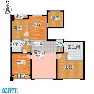 力宝广场・诗礼庭175.00㎡D2户型10室