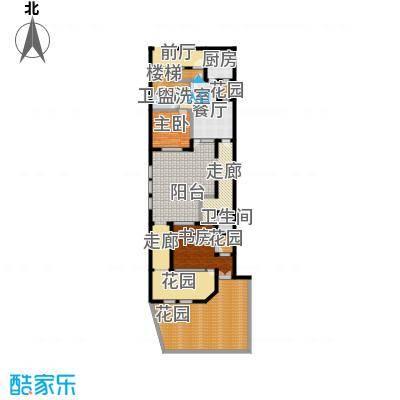 上饮合院178.00㎡上饮合院13号楼地上一层1室2厅2卫1厨户型