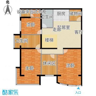 PARK北京244.00㎡XC1首层户型3室2卫
