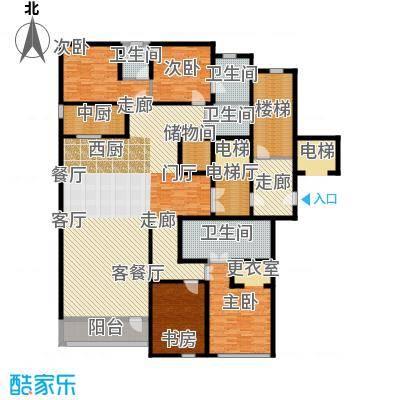 绿城北京诚园265.00㎡B2户型4室3厅4卫