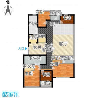 绿城北京诚园253.00㎡B4户型5室1厅3卫1厨