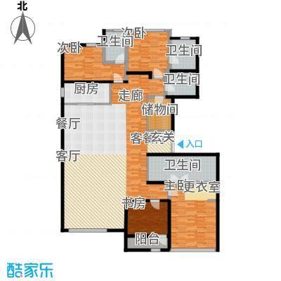 绿城北京诚园255.00㎡B5户型4室1厅4卫1厨