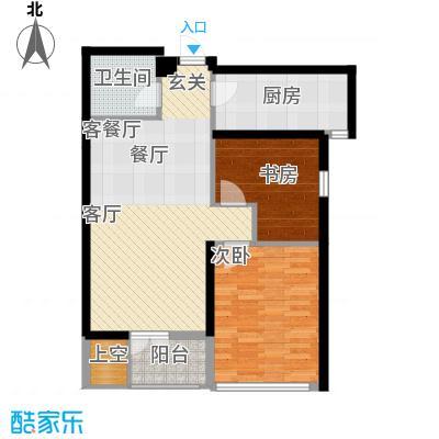绿城北京诚园N-A1(售完)户型2室1厅1卫1厨
