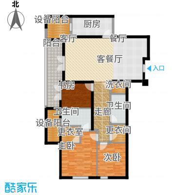 绿城北京诚园140.00㎡N2(售罄)户型3室2厅2卫