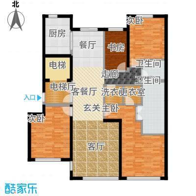 绿城北京诚园170.00㎡B3户型4室2厅2卫