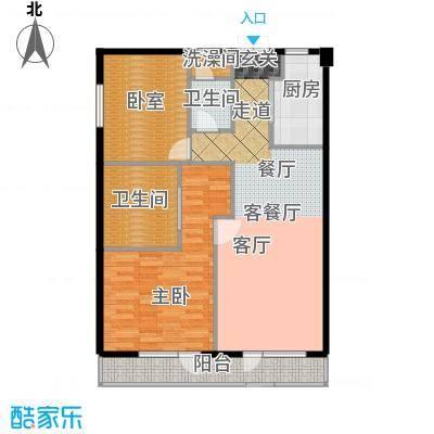 将府庄园90.00㎡护理型公寓二居户型10室