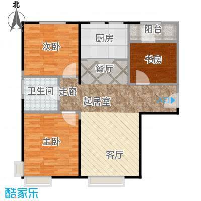 中信府・世家86.00㎡B1号楼A户型3室2厅1卫