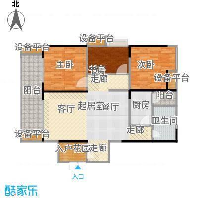 绵阳CBD万达广场户型3室1卫1厨