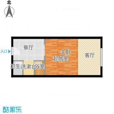万科公园五号56.00㎡7#行政公寓A一居室户型10室