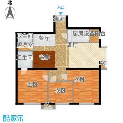 里外里公寓137.65㎡A-L-3户型三室二厅二卫户型
