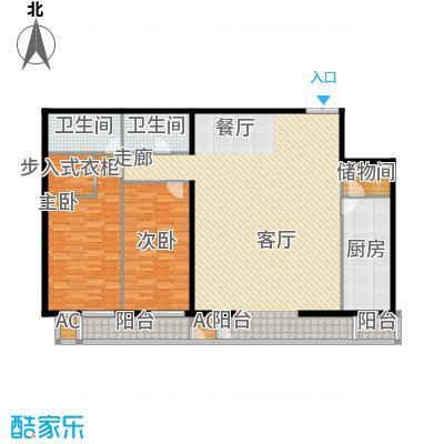 里外里公寓214.18㎡C-F-2户型二室二厅二卫户型
