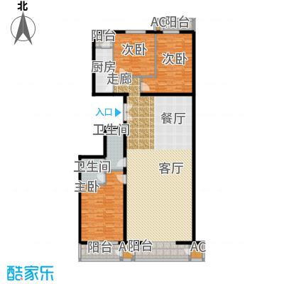 里外里公寓225.72㎡C-G-3户型三室二厅二卫户型