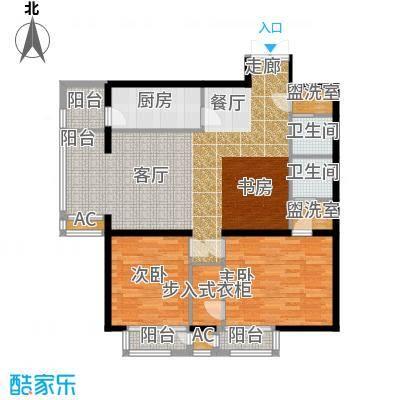 里外里公寓128.04㎡F-A2-2户型二室二厅二卫户型