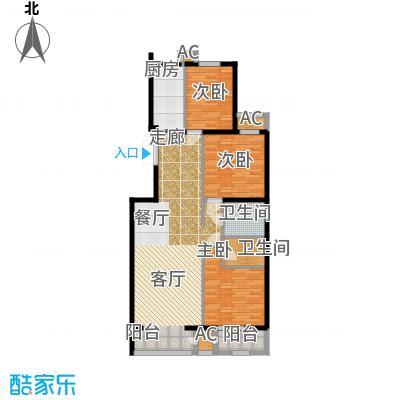 里外里公寓152.65㎡F-B-3户型三室二厅二卫户型