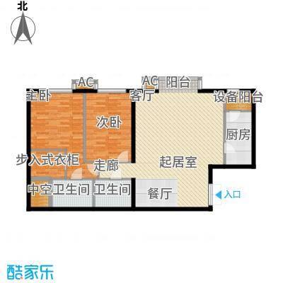里外里公寓140.27㎡C-F1-2户型二室二厅二卫户型