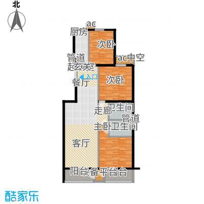 里外里公寓152.65㎡E-B-3户型三室二厅二卫户型