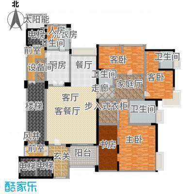 中铁凤凰谷户型3室1厅4卫1厨