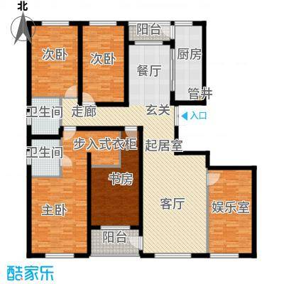 美伦堡2#C-1四室二厅二卫户型