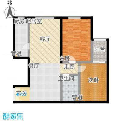 蓝堡国际公寓98.36㎡B`02户型