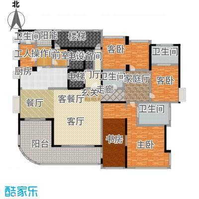 中铁凤凰谷户型3室1厅4卫