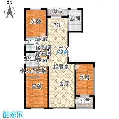 美伦堡D-1`户型三室二厅二卫户型