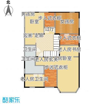 鸿坤・林语墅116.51㎡联排S-9F面图户型1室2卫