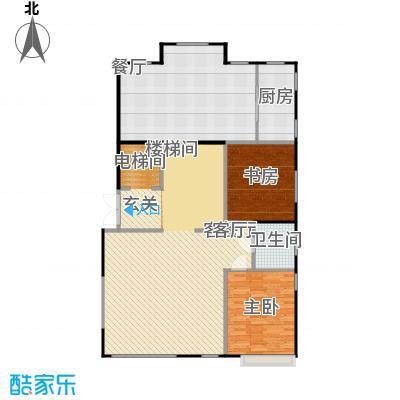 鸿坤・林语墅127.72㎡叠拼B1F面图户型2室1厅1卫1厨
