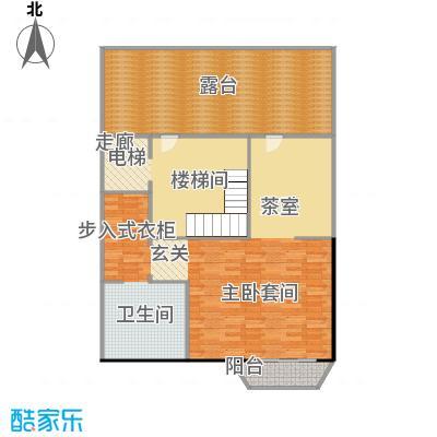 鸿坤・林语墅74.84㎡联排S-9F面图户型1室