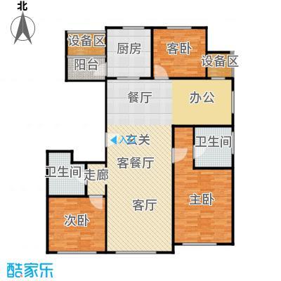 枫丹壹�145.00㎡C户型 四室二厅二卫户型4室2厅2卫
