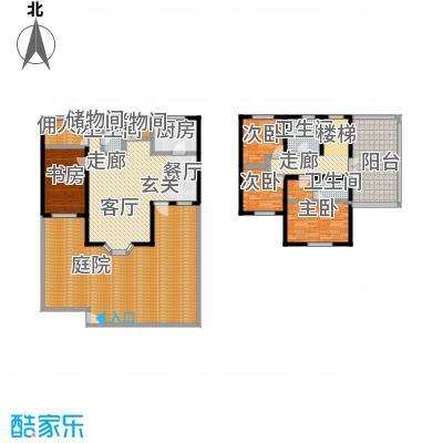 雅典娜庄园214.48㎡三室二厅三卫一厨户型