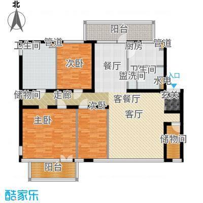 塞纳维拉---户型3室1厅2卫1厨