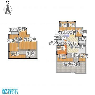 磐石圣缇亚纳-10号楼1F洋房A地下室全赠送户型1室1厅3卫1厨