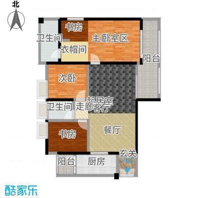 花滩国际新城丁香郡B1户型3室2卫1厨
