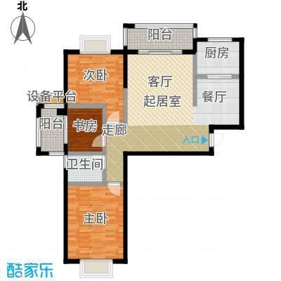 瑞景城99.40㎡1、2#楼A户型3室2厅1卫