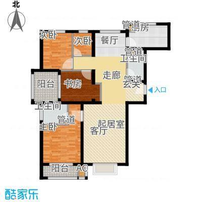 安联水晶坊134.00㎡三室两厅两卫户型