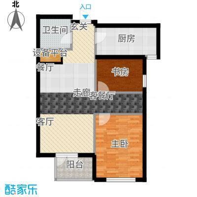 绿城北京诚园90.00㎡N3(售罄)户型1室2厅1卫