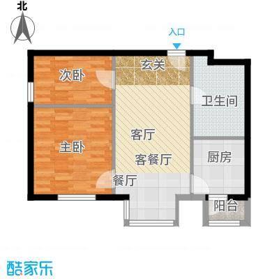 悠唐・麒麟公馆85.80㎡8号楼03户型2室2厅1卫