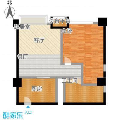 博雅国际中心98.72㎡F户型一室一厅一卫户型