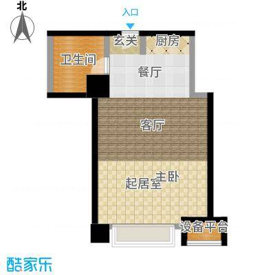 博雅国际中心60.01㎡B1户型一室一卫户型