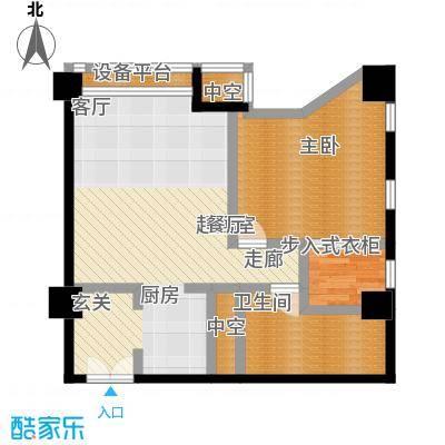 博雅国际中心96.83㎡F户型一室二厅一卫户型