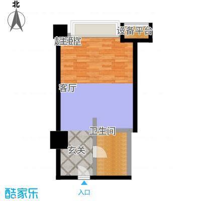 博雅国际中心49.28㎡A户型一室一卫户型