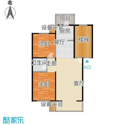 燕归宁馨园88.00㎡两室两厅一卫户型