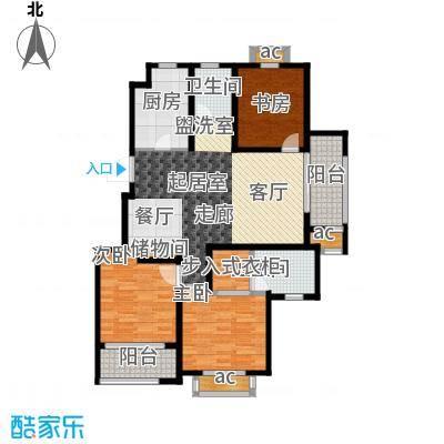 旭辉百合宫馆110.00㎡C2户型 3室2厅1卫户型3室2厅1卫