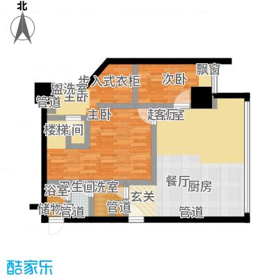 MASTER领寓114.96㎡B户型两室两厅两卫户型