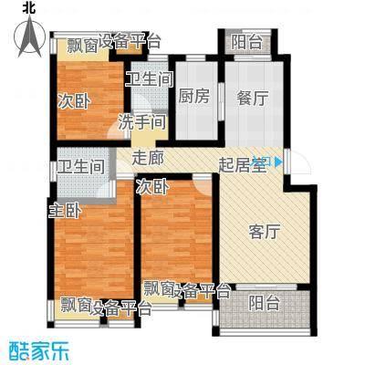 新城熙园94.00㎡三房二厅二卫-108平方米户型
