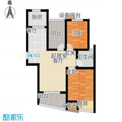 新城熙园80.00㎡98平米户型