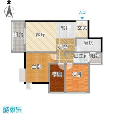 西山国际城(尚品嘉园)88.22㎡户型3室2厅1卫