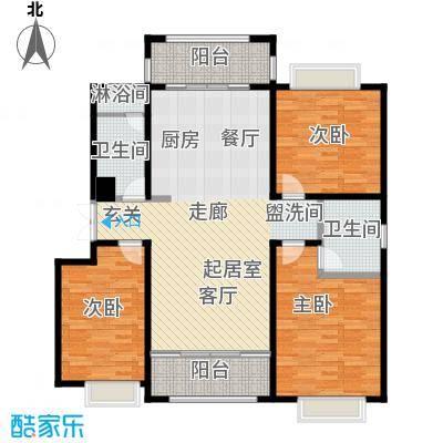 联邦・御景江山148.60㎡二期C2户型3室2厅2卫